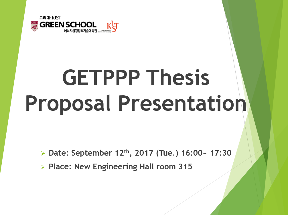 environmental thesis proposal